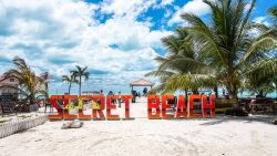 Secret Beach in Ambergris Caye, Belize